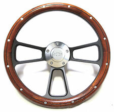 Custom Mahogany & Billet Steering Wheel Kit for 1969 - 1994 Chevy Camaro