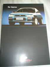 Subaru Impreza range brochure Oct 1996 German text