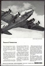 1944 WW II BOEING 307 Stratoliner Prop Aircraft AD
