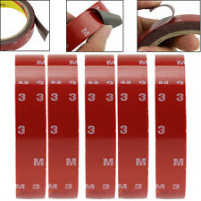5x 3m X 20mm Auto Truck Car Acrylic Foam Double Sided Attachment Tape Adhesive