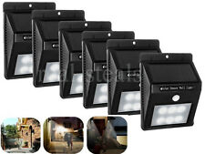NEW 6 x 6 LED SMD SOLAR PIR MOTION SENSOR SECURITY WALL LIGHT PATIO GARDEN LIGHT