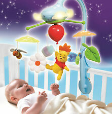 Winnie the Pooh Dream Clouds Deluxe Cot Crib Mobile Musical Toy Lights T72150