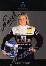Susie Stoddart Wolff Mercedes DTM Promo Card Signed