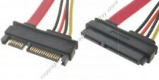 "20""inch SATA+POWER Extension Male~Female Cable/Cord/Wire {7pin+15pin $SH DISC"