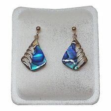 Paua Jewelry - Gold Plated Stud Earrings (PE200)
