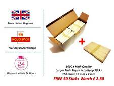 Cheap High Quality 1000 Large Jumbo Lollipop Popsicle Sticks FREE Extra Sticks