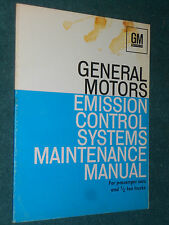 1972 CHEVY / BUICK / CAD / OLDS /  CAR & TRUCK EMISSIONS  SHOP MANUAL / ORIGINAL