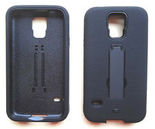 Samsung Galaxy S5 SM-G900A (AT&T) Phone Cover PRO ARMOR Case skinBLACK/BLACK
