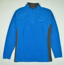 Columbia Klamath Range II Half Zip Fleece Jacket Microfleece Blue Men's Size XL