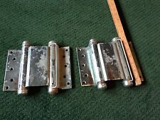 """PAIR EXTRA LARGE McKINNEY DOUBLE ACTING SPRING HINGES 7"""" USED"""