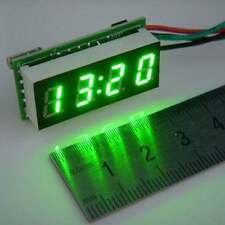 "0.30"" Digital Clock 12V 24V Car Uhr Motorcycle LED Watch Meter 24 hour time gree"