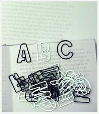 Räder Paper& Poetry ABC Büroklammern schwarz/weiß vollständiges Alphabet 26STCK