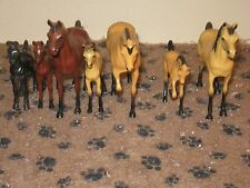 1960's HARTLAND 4 1/2 MINI SERIES 7 MARES AND COLTS..