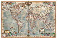 PUZZLE 4000 PIEZAS teile pieces EL MUNDO MAPA POLITICO THE WORLD MAP EDUCA 14827