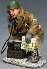 KING & COUNTRY BATTLE OF THE BULGE BBA034 U.S. KNEELING WITH FIELD PHONE MIB