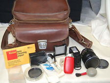 Vintage Vivitar 28mm 1:2.5 Camera Lens, Filters, Case, and Accessories [S6625]