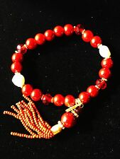 USA SELLER Fashion BREACELET Unique Charming Fancy Vogue Chic Pearl Red