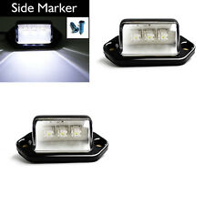 2 pcs Waterproof 12V 3 LED License Plate Light Car Boat Truck Trailer Step Lamp