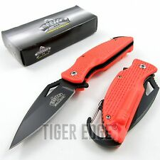 SPRING-ASSIST FOLDING POCKET KNIFE | Orange Black Tactical Blade Everyday Carry