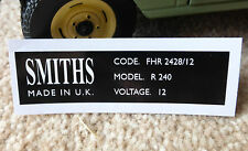 Land Rover Series 2 2a 88 109 LWB Smiths Rectangular Heater Label Decal Badge
