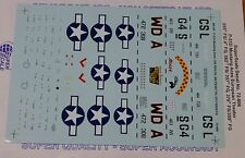 Microscale Decal 1:72 Scale #72-806 / 8th AF, P-51D Mustang Aces: 335th FS/ 4 FG