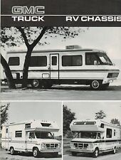 1986 GMC RV CHASSIS Brochure : Motor Home,G-3500,P6T042,RALLY CAMPER SPECIAL,