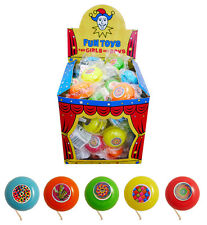 12 x Mini Pocket Yo-Yos - 38mm Return Tops Pinata Toy Loot/Party Bag UK SELLER