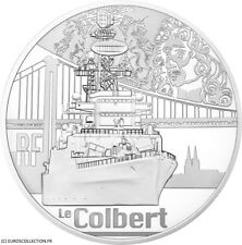 10 € EURO BE/PP ARGENT SILVER 2015 MARINE NAVIRE LE COLBERT (TIRAGE 3000 ex) !!!