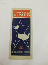 vtg AAA United States ROAD MAP - 1960 - American Automobile Association