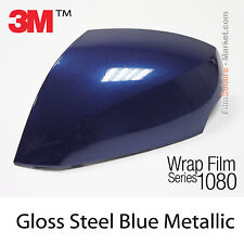 10x20cm FILM Gloss Steel Blue Metallic 3M 1080 G217 Vinyle COVERING Car Wrapping