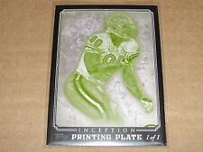 2012 Inception JULIUS PEPPERS #46 Black Printing Plate True #1/1 BEARS - PACKERS