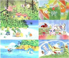 Lot de 6 Cartes POSTALES POKEMON SOUTHERN ISLAND neuves