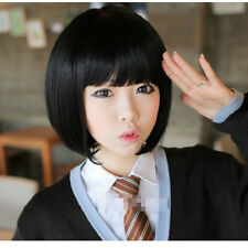 New Black Short Wig Women Cosplay/Disco Party Straight Hair Fashion full wigs