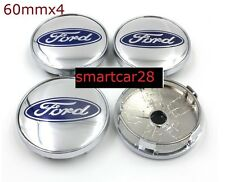 Ford 60mm Alloy Wheel Centre Cap x4 New Ford 60mm Alloy Wheel Centre Caps chrome