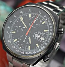 Vintage GALLET Multichron 12 Chronograph Valjoux 7754 Black PVD Pilot Watch