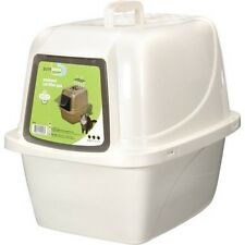 Large Enclosed Cat Pan Litter Box Portable Odor-Absorbing Zeolite Filter NEW