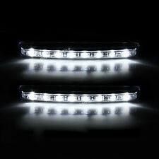 2x Car Light 8LED DRL Fog Driving Daylight Daytime Running LED White Head Lamp