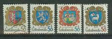 Tschechoslowakei Briefmarken 1982 Städtewappen Mi.Nr.2651-54