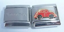RED CAR 9mm Italian Charm + 1 x Genuine Nomination Classic Link Love Bug Beetle