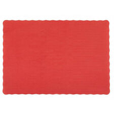 "25 Paper Placemats 10"" X 14"" Dinner Size 26 Colors - Red"