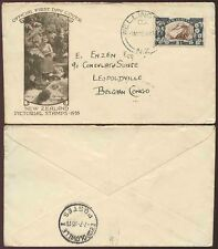 NEW ZEALAND 1935 PICTORIAL 2 1/2d ILLUSTRATED FIRST DAY COVER to BELGIAN CONGO