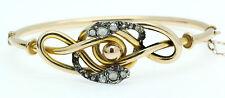 Un doble inusual Rose Corte Diamante Serpiente Brazalete Circa 1800 de