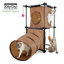 Sport Pet Design-Kitty City Collection Brown Tunnel Tower Cats Toys 0313 Max 9kg