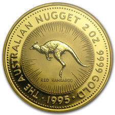 1995 2 oz Australian Gold Nugget Coin - Brilliant Uncirculated - SKU #82950