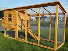 LARGE 8FT CHICKEN COOP HEN POULTRY ARK HOUSE HUTCH RUN NEST NEW