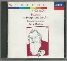 Brahms: Symphony no 2, Haydn Variations / Monteux, London SO (CD, Jan-1991,...