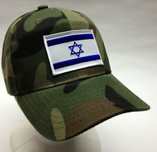 Israeli Special Forces Flag Hat Ball Cap Flag of Israel Mossad Camo Camouflage