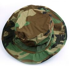 Men Woodland Camo Combat Ripstop Army Military Boonie Bush Jungle Sun Hat Hiking