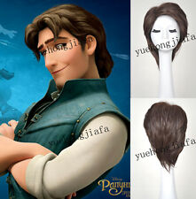 New Arrival Tangled Flynn Rider Cosplay wig Short brown For adult Men party wig