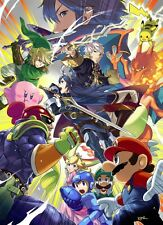 "12"" x 17"" Super Smash Bros 4 SSB4 Game Poster Wii U"